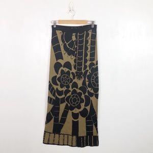 Peruvian Connection Floral Cotton Maxi Skirt